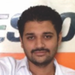 Portrait of Sheeraj Jadeja, Owner of Vimal Tyres, Surat. Uses tyre ERP software to manage tyre  business requirement.